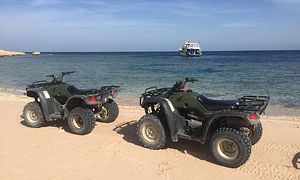 Privates Quad-Abenteuer am Strand bei Sonnenuntergang ab Soma Bay